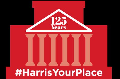 #HarrisYourPlace logo