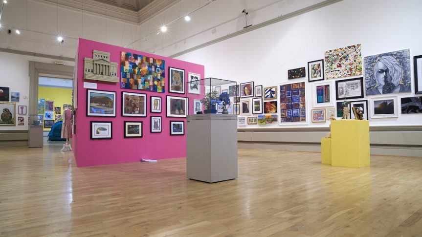 Artwork on display in the Harris Open exhibition