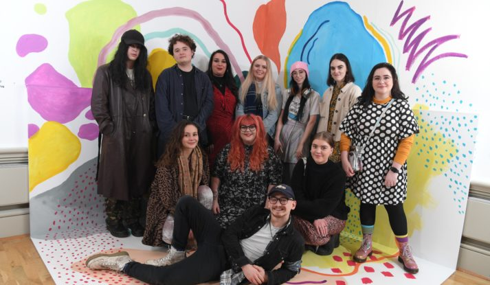 Young producers in gallery