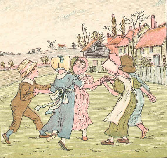 A Kate Greenaway image from the Spencer Collection of illustrated children's books