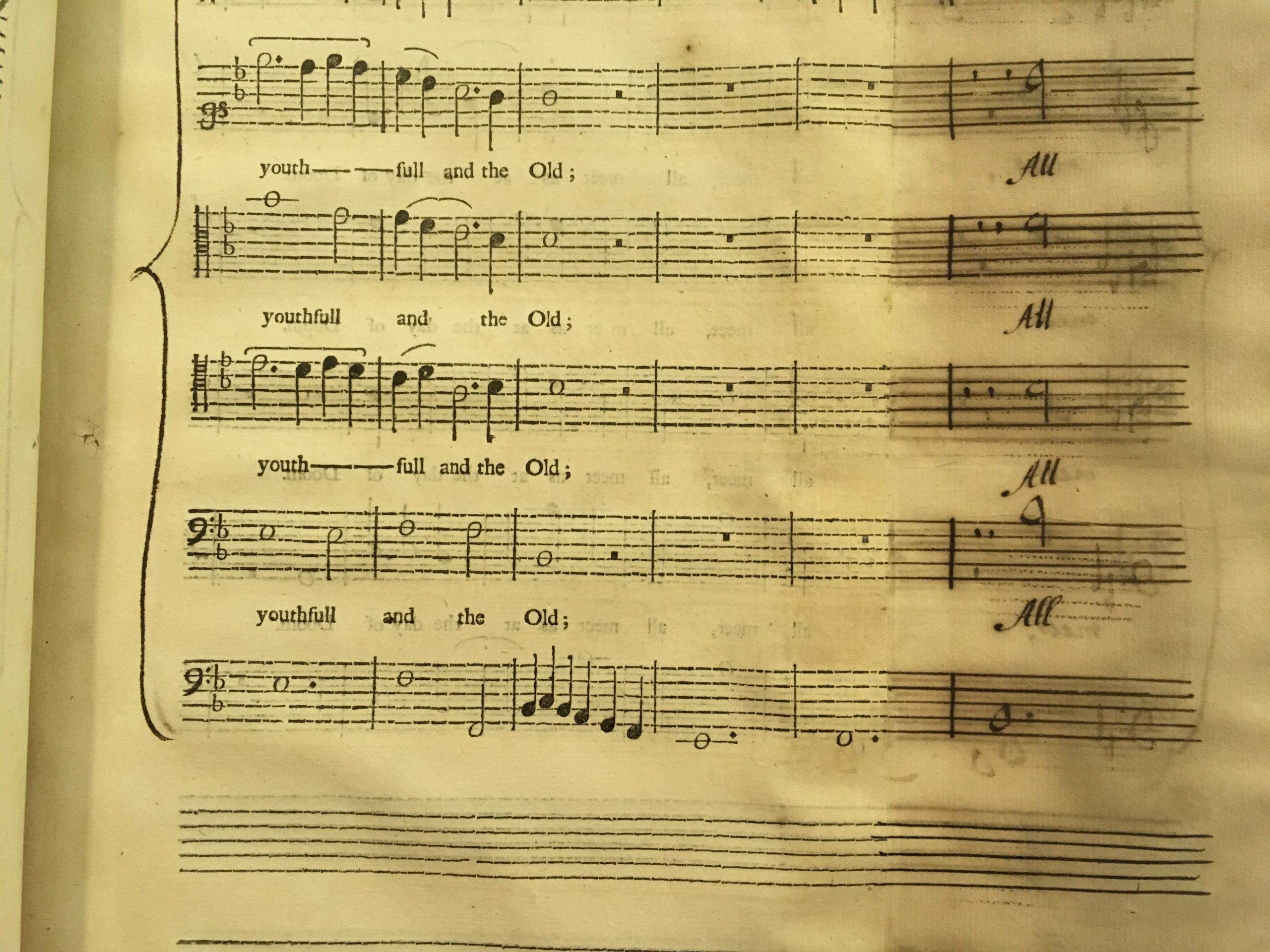 Old musical note music sheet
