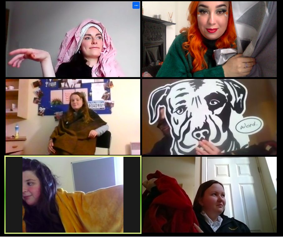 Screenshot of Young Producers on Zoom Call