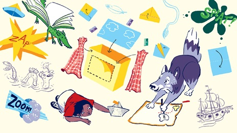 The British Library activity pack illustrations