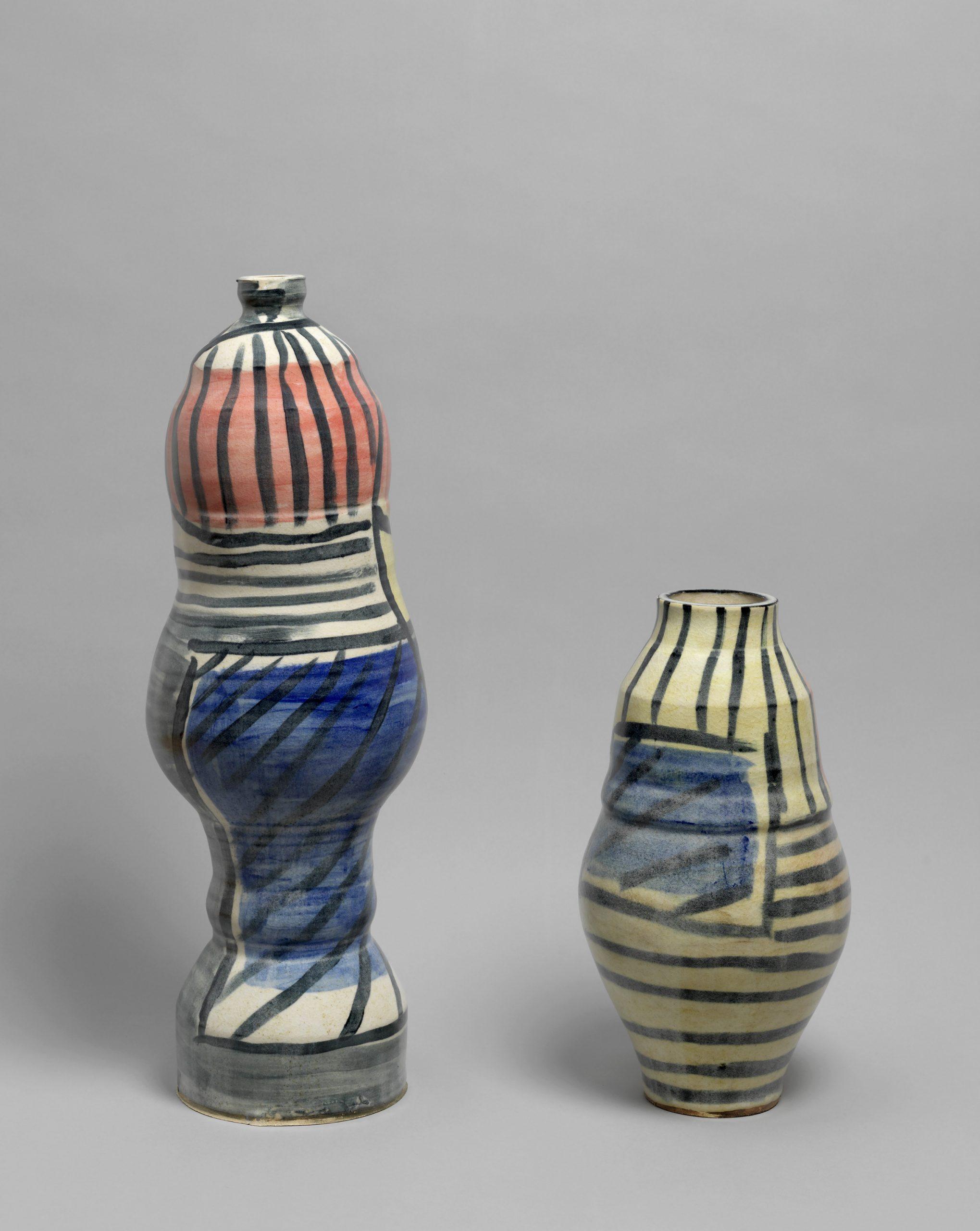 2 ceramic pots