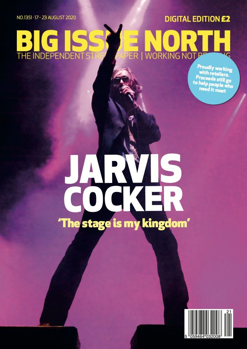 Magazine front cover with Jarvis Cocker on stage