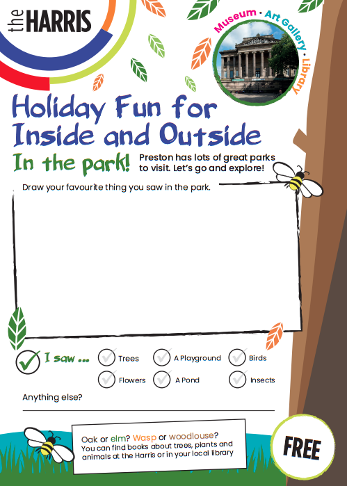 Example page of activity booklet