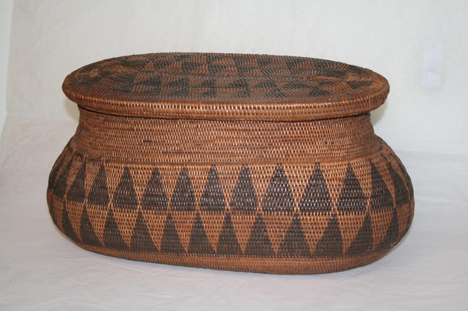A woven Mapokwe basket