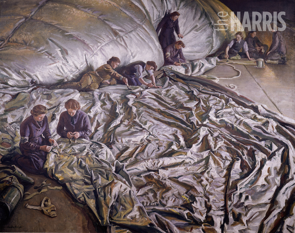 A painting by Dane Laura KnightIn for Repairs Laura Knight (1877–1970)