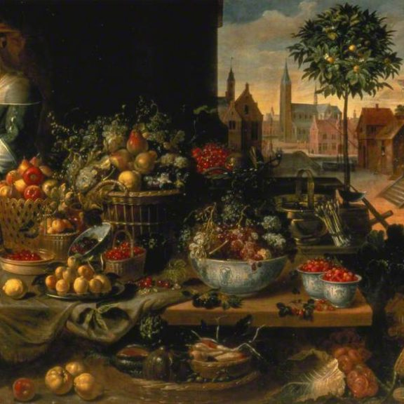 Image of the painting A Fruit Stall