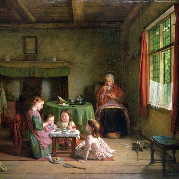 Image of the painting A Tea Party