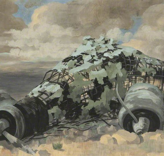 Image of the painting Burnt Out Aeroplane