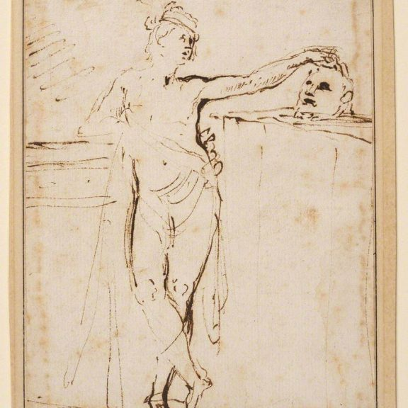Image of the drawing David With the Head of Goliath