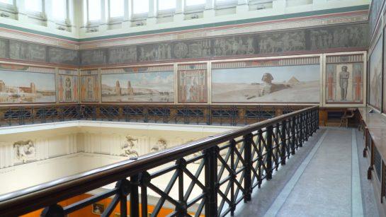 View of the Harris' Egyptian Balcony