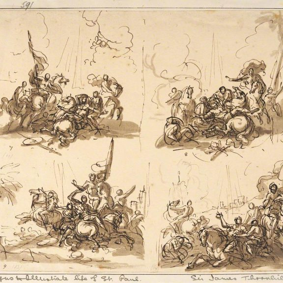 Image of the drawing Four Designs Illustrating the Life of St Paul