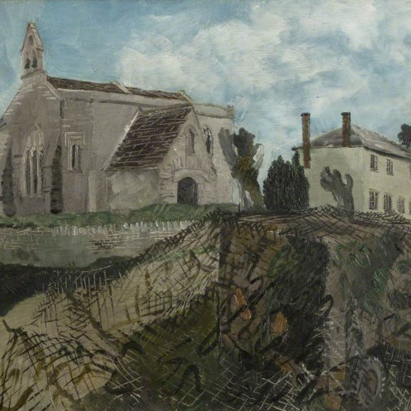 Image of the painting Inglesham Church and Rectory