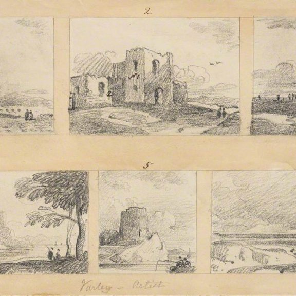 Image of a series of sketches for Instructions for Drawing