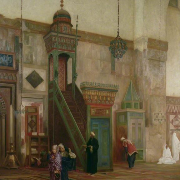 Image of the painting Interior of the Grand Mosque, Damascus