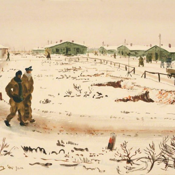 Image of the painting Marlag 'O' in Winter