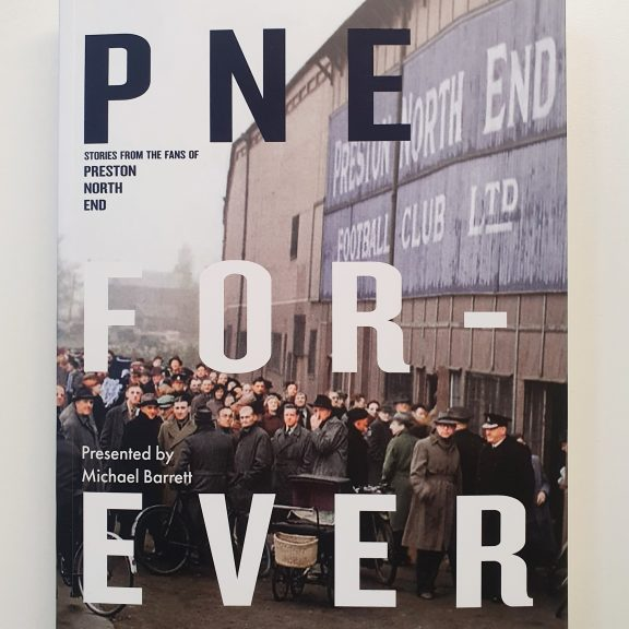 Front cover of Michael Barrett's PNE FOR _ EVER book