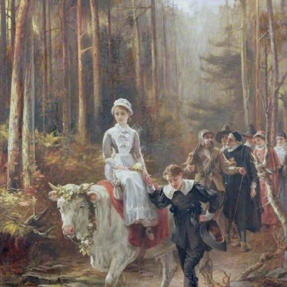 Image of the painting Priscilla - the Courtship of Miles Standish