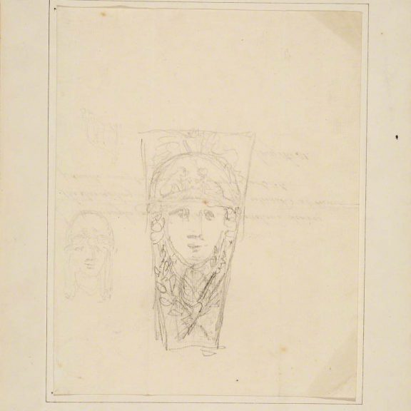 Image of Sketch for a Keystone at Somerset House