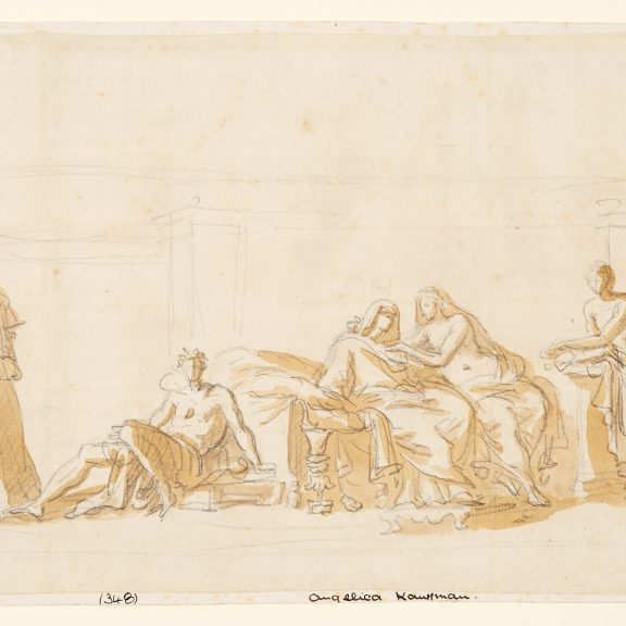 Image of the drawing Study after the Aldobrandini Wedding