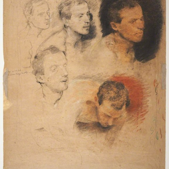 Image of the drawing Study of a Male Head