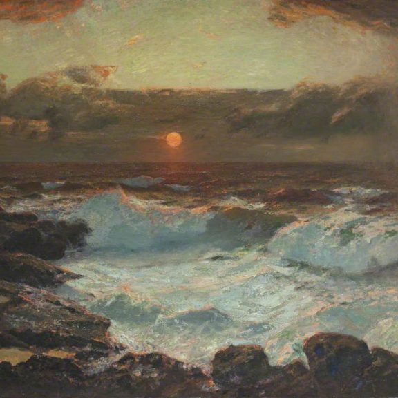 Image of the painting Sunset at Land's End