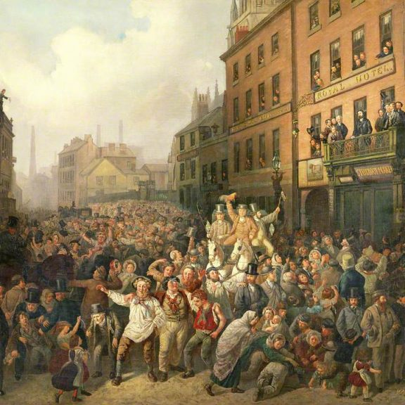 Image of the painting The Preston By-Election of 1862