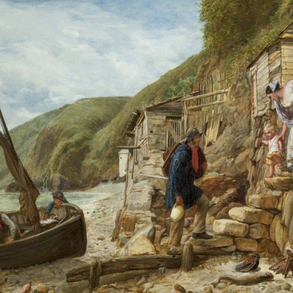 Image of the painting Welcome, Bonny Boat! The Fisherman's Return