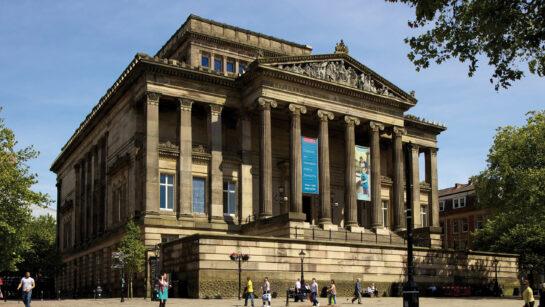 Harris Museum in sunshine on the Market Square, Preston