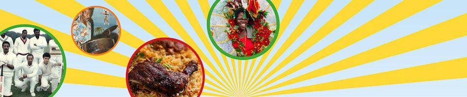 Caribbean activities with food, dancing and music